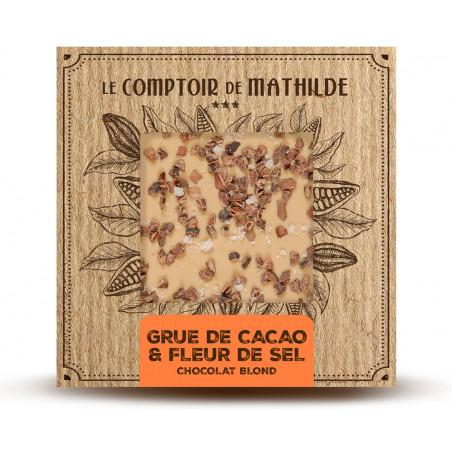 Tablette Grué & fleur de sel - Chocolat blond