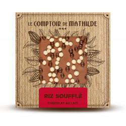 Tablette Riz soufflé - Chocolat lait