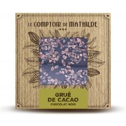 Tablette Grué de cacao - Chocolat noir