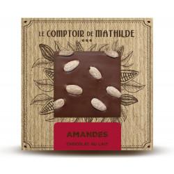 Tablette Amandes Caramélisées - Chocolat lait