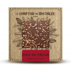 Tablette Noix de pécan - Chocolat lait