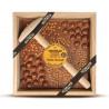 Chocolat noir pralines roses - Chocolat à casser