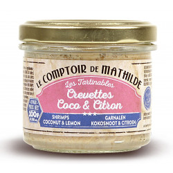 Crevettes Coco et Citron - Tartinable de la Mer