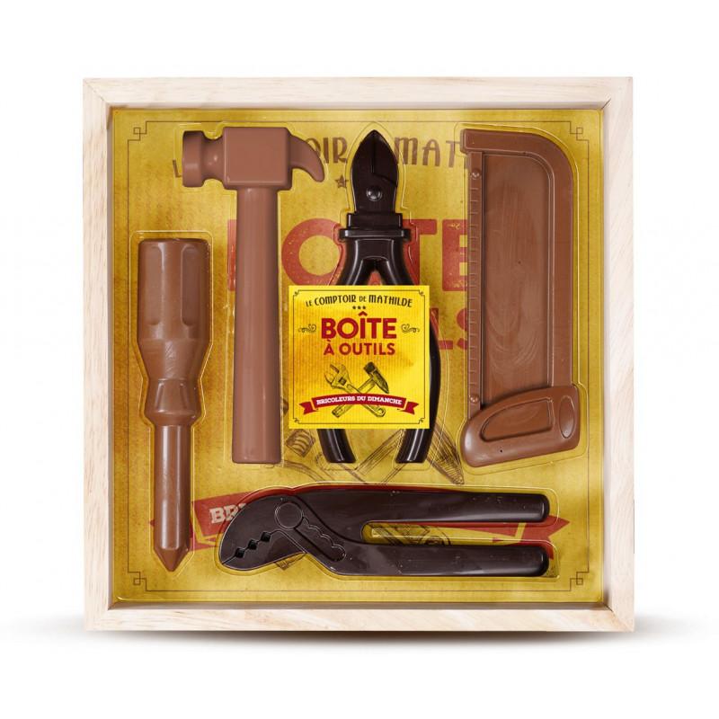 coffret bo te outils chocolats noir et lait. Black Bedroom Furniture Sets. Home Design Ideas