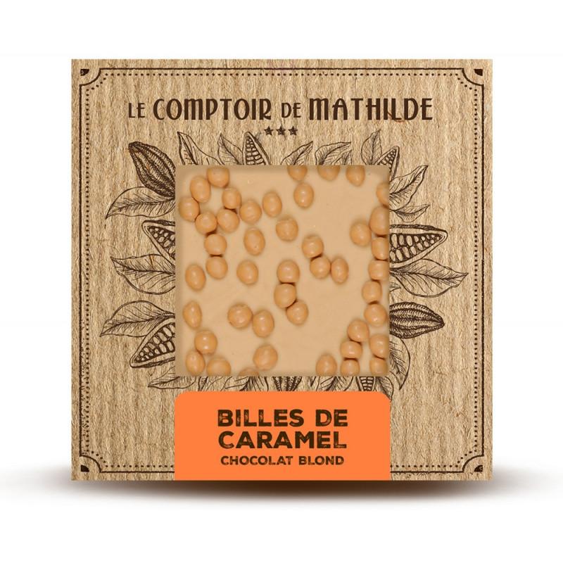 Tablette Billes caramel - Chocolat blond