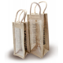 Small vertical jute bag
