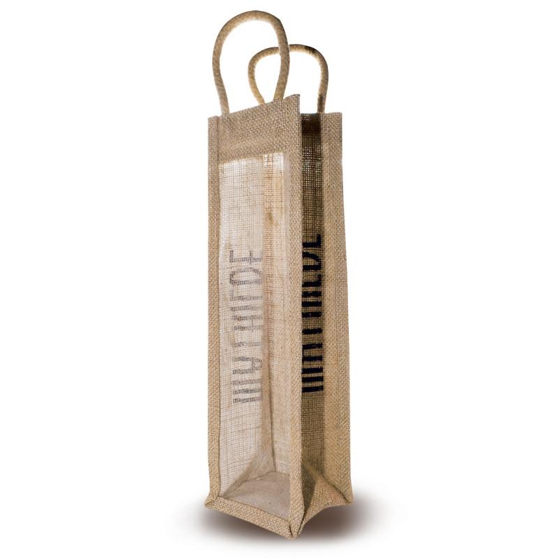 Jute bag for bottles
