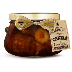 Mini canele poached in an armagnac syrup