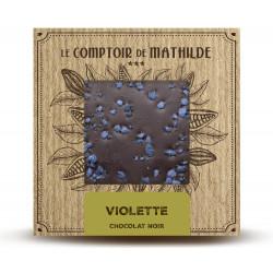 Tablette Violette - Chocolat noir