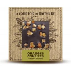 Tablette Oranges confites - Chocolat noir