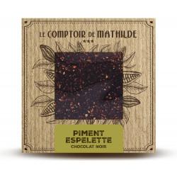 Dark Chocolate Espelette Pepper Tablet