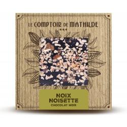 Tablette Noix / Noisettes - Chocolat noir