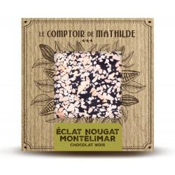 Tablette Éclat de nougat de Montélimar - Chocolat noir