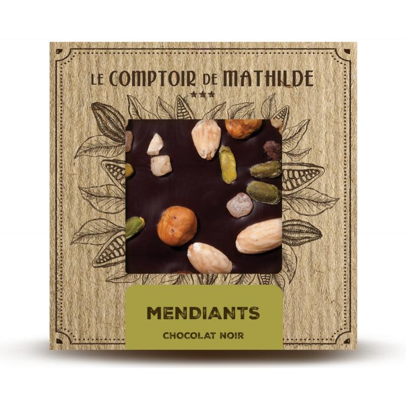 Tablette Mendiants - Chocolat noir