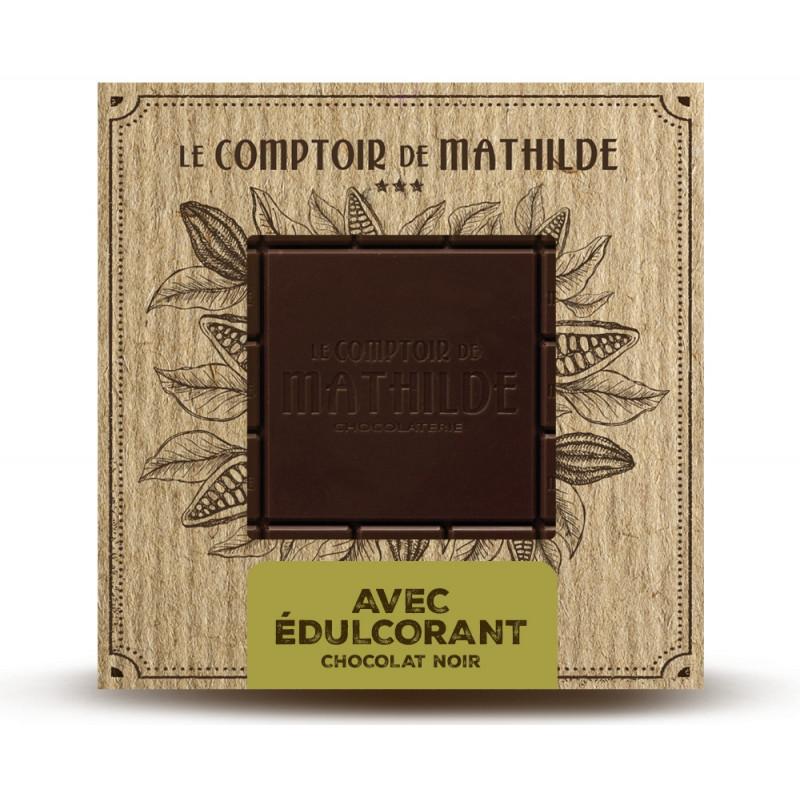 Tablette avec édulcorant - Chocolat noir