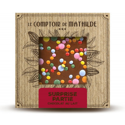 Tablette Surprise partie - Chocolat lait