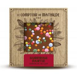 Tablette Surprise partie - Chocolat lait