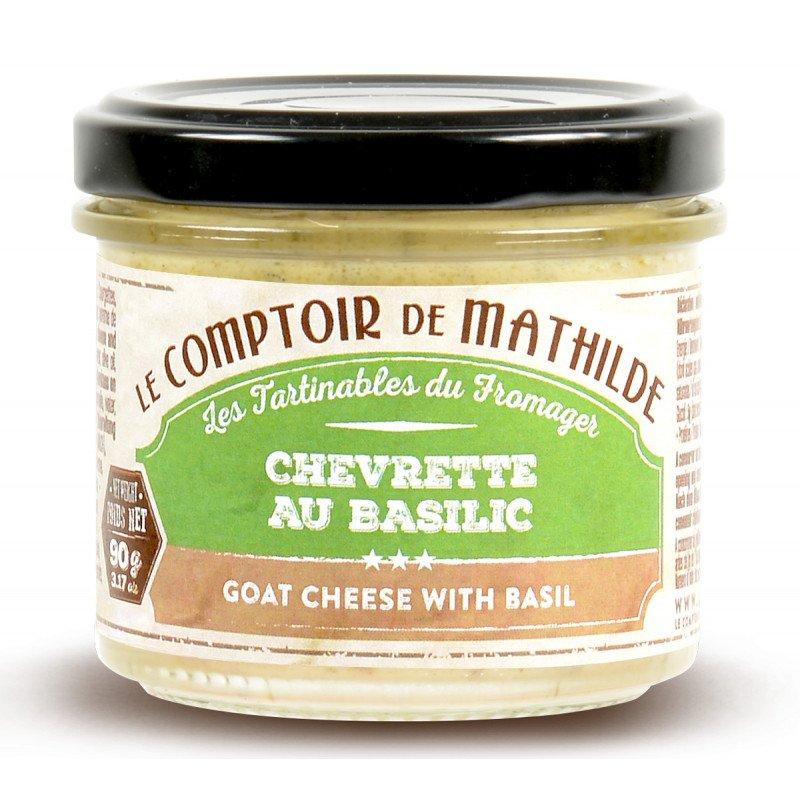 Chevrette au Basilic tartinable 90g