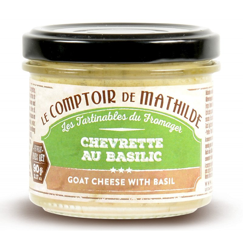 Goat cheese with basil spreadable 3.17oz