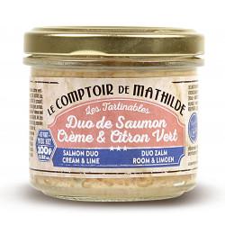 Duo de Saumon Crème et Citron Vert tartinable de la mer 90g