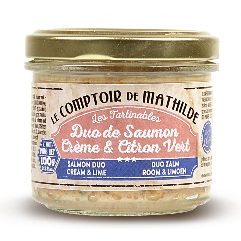 Salmon DuoCream & Lime spreadable 3.52oz