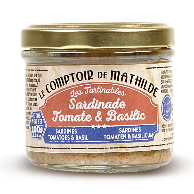 Sardine Tomate et Basilic tartinable de la mer 100g