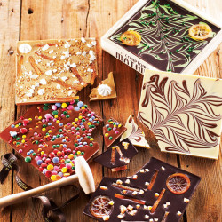 Breakable Milk Chocolate with Fudge Pearls