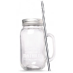 Mason Jar Lid + Straw 22.99 fl.oz