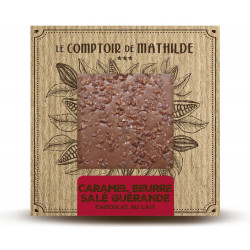 Chocolate Bar Salted butter fudge chips & ''Fleur de sel'' from Guerande - Milk chocolate