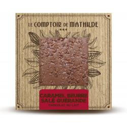 Tablette Caramel Bbeurre salé & Fleur de sel de Guérande - Chocolat lait