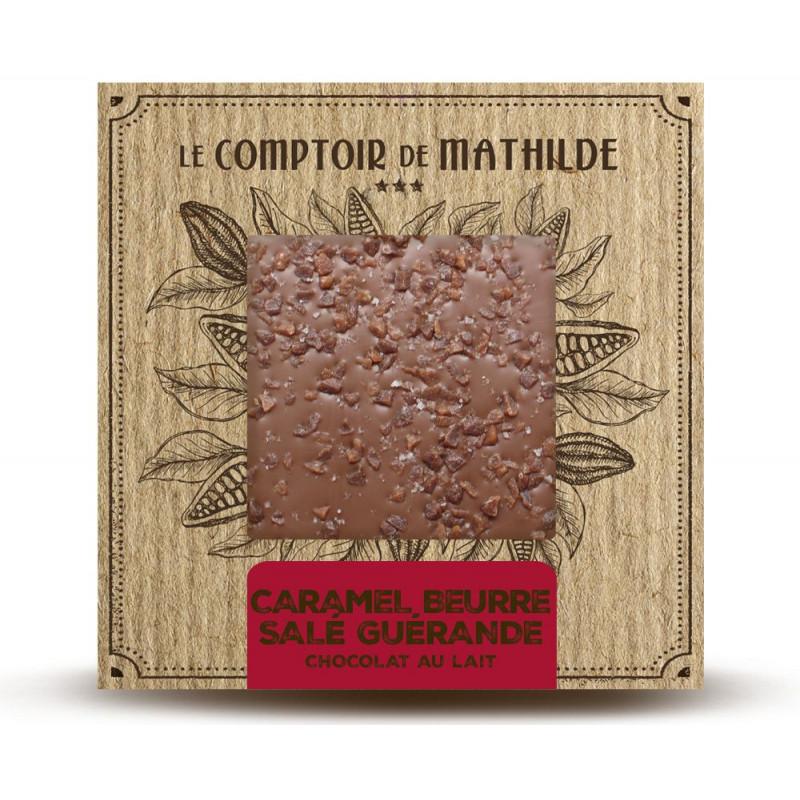 Tablette Caramel au beurre salé & Fleur de sel de Guérande - Chocolat lait