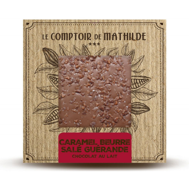 Chocolate Bar Salted butter fudge chips & ''Fleur de sel'' from Guerande - Milk chocolate