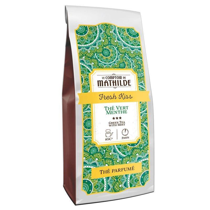 Fresh kiss : Green tea with mint