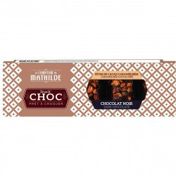 Snack'Choc Dark Caramelised cocoa nibs
