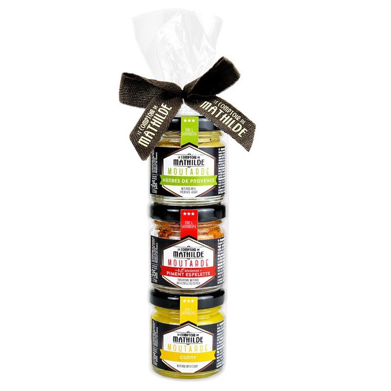 3 mustards (3x1,23oz) - 7 recipes mix