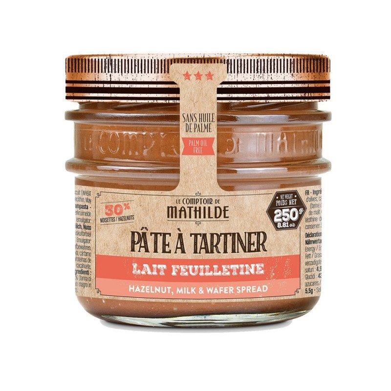 Chocolat au Lait Feuilletine  Pâte à Tartiner 250g