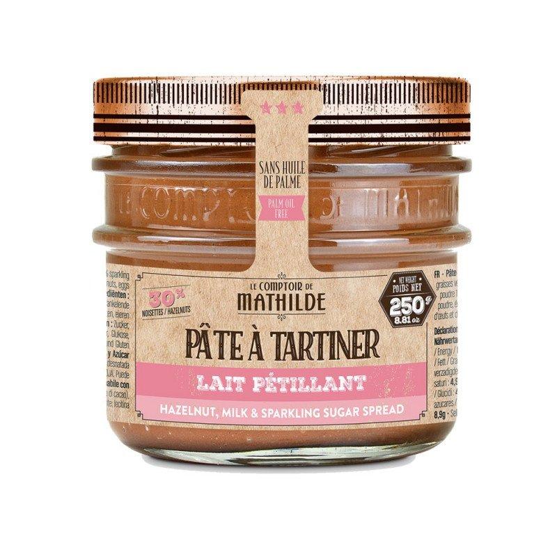 Pâte à Tartiner Chocolat Lait Noisettes sucre Pétillant 250g