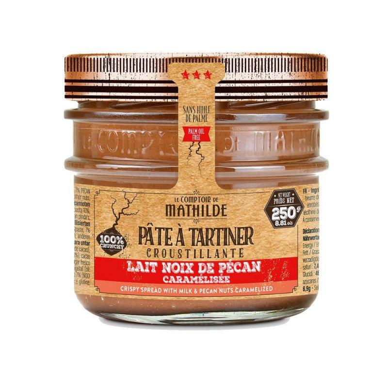 Lait noix de pécan caramélisée Pâte à tartiner croustillante 250g