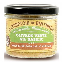 Green olives with garlic & basil spreadables 3.17oz