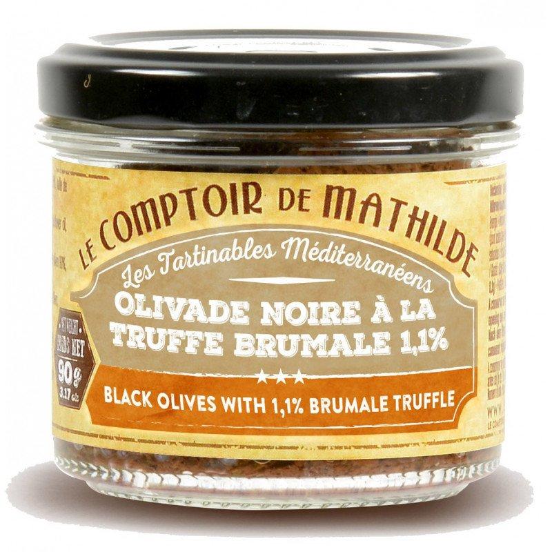 Black olives with 1,1% Bruamel truffle spreadable 3.17 oz