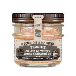 Terrine au jus de truffes noires aromatisée 3% 220g