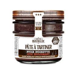 Chocolat Noir Noisette sans sucre ajouté édulcorant Pâte à Tartiner 250g