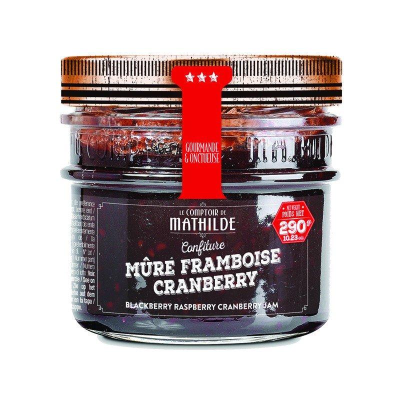 Confiture Mûre, Framboise, Cranberry
