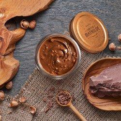 4 pots 100g de pâte à tartiner (Feuilletine - Pétillant - Lait noisette - Caramel salé fleur de sel de Guérande)