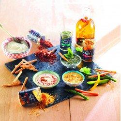 Dip mix set 7 flavours Bombay, Parisienne, Thaïlandaise, Texane, Marrakech, Tusc