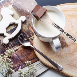Milk Hot Chocolate with Salted Butter Fudge Chip