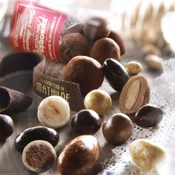 Milk chocolate coated-cereal with coconut