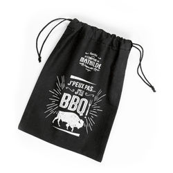 BBQ cotton bag L 17 x H 24 CM