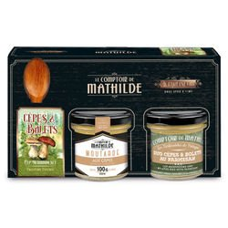 Coffret Gourmet Cèpes & Bolets moutarde 100g tartinable parmesan 90g