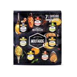 Coffret dégustation - 7 pots de 35 g de moutarde